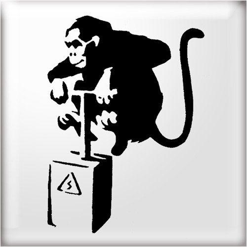 The studio banksy style. Clipart monkey stencil