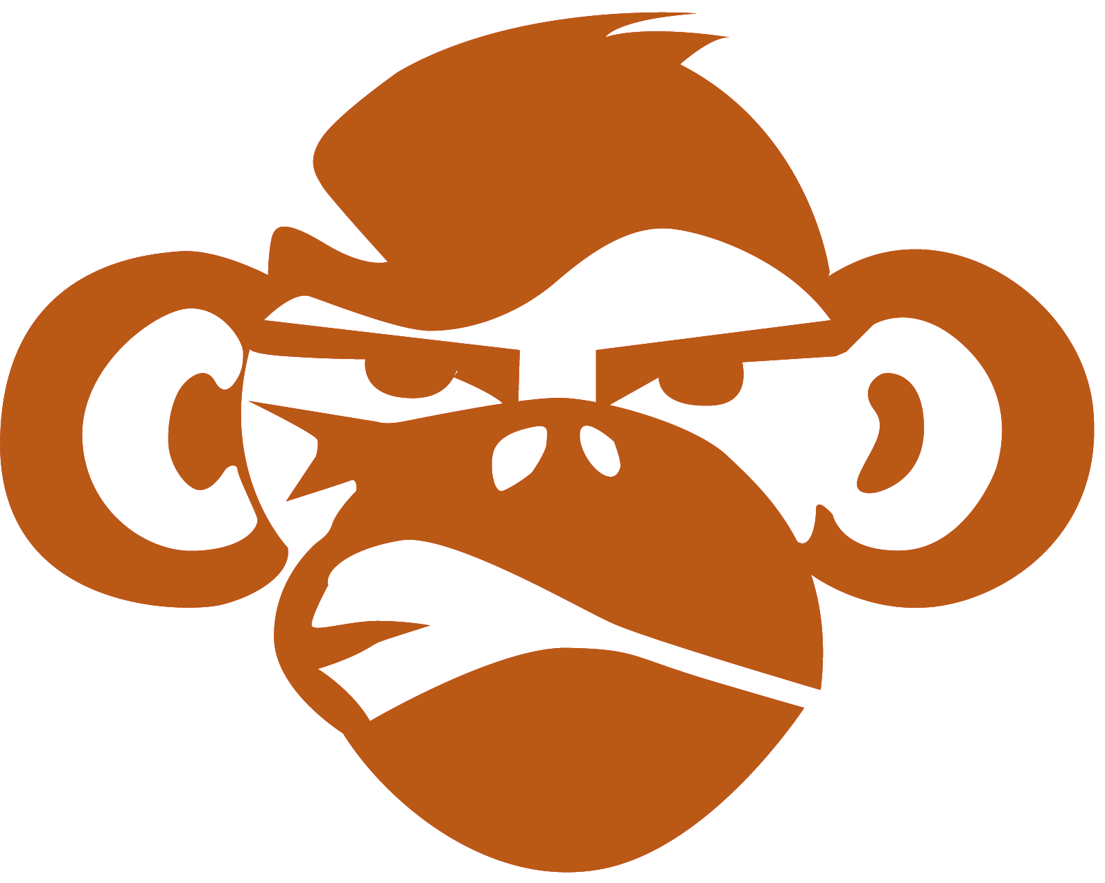 Clipart monkey stencil. Race in mud and