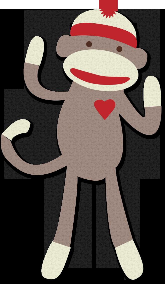 Sock monkey clip art. Clipart socks sort