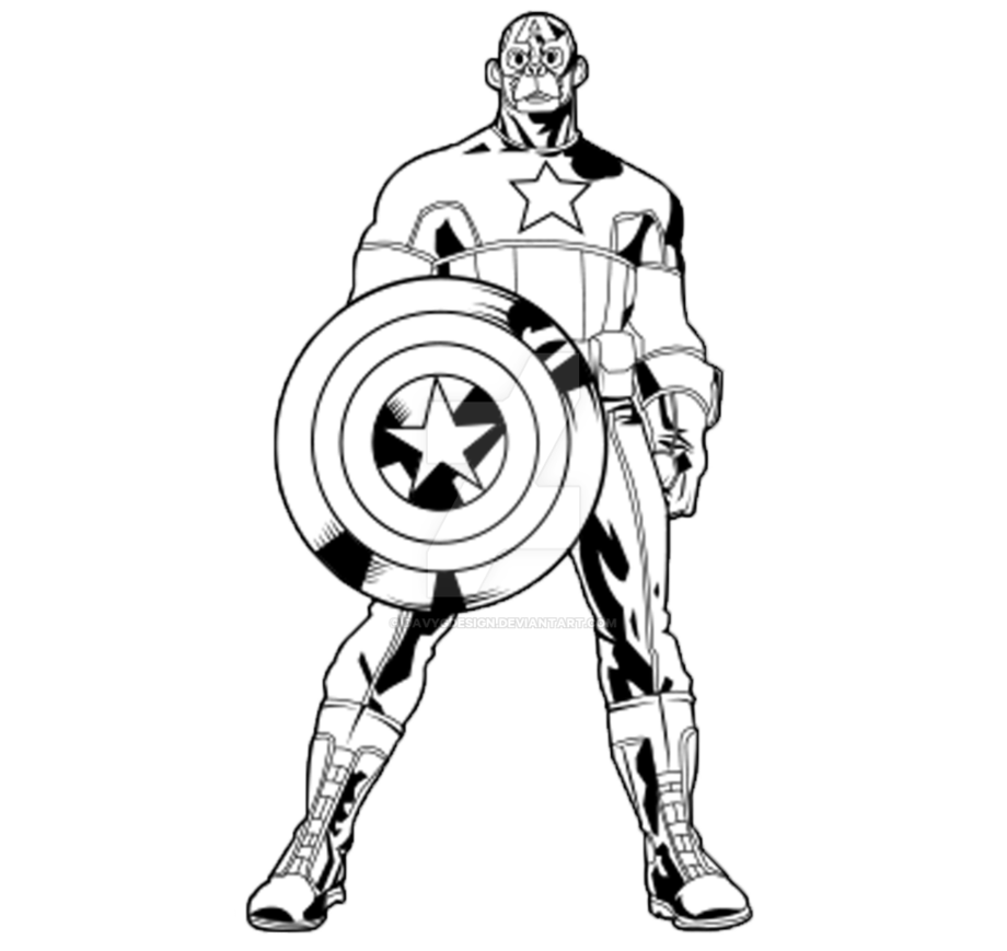 Head clipart captain america. Outline monkey by davygdesign