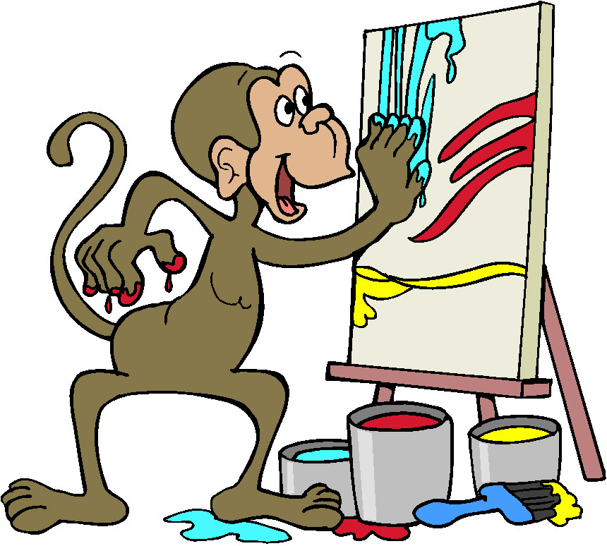 Free writing cliparts download. Monkey clipart school