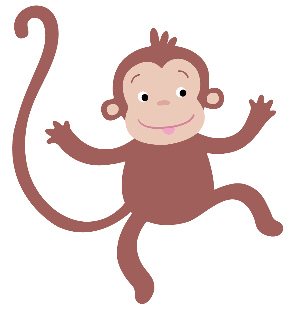 Clipart monkey template. Free hanging download clip