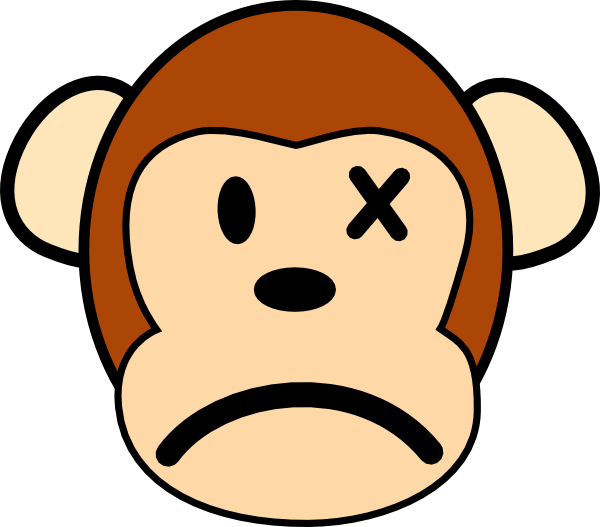 Crazy art angry clip. Clipart monkey template