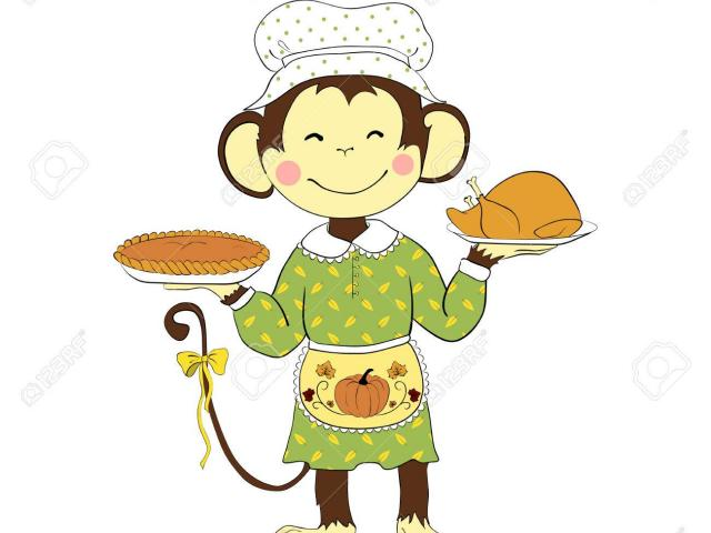 Clipart monkey thanksgiving. Free download clip art