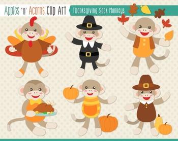 Monkey clipart thanksgiving. Sock monkeys clip art