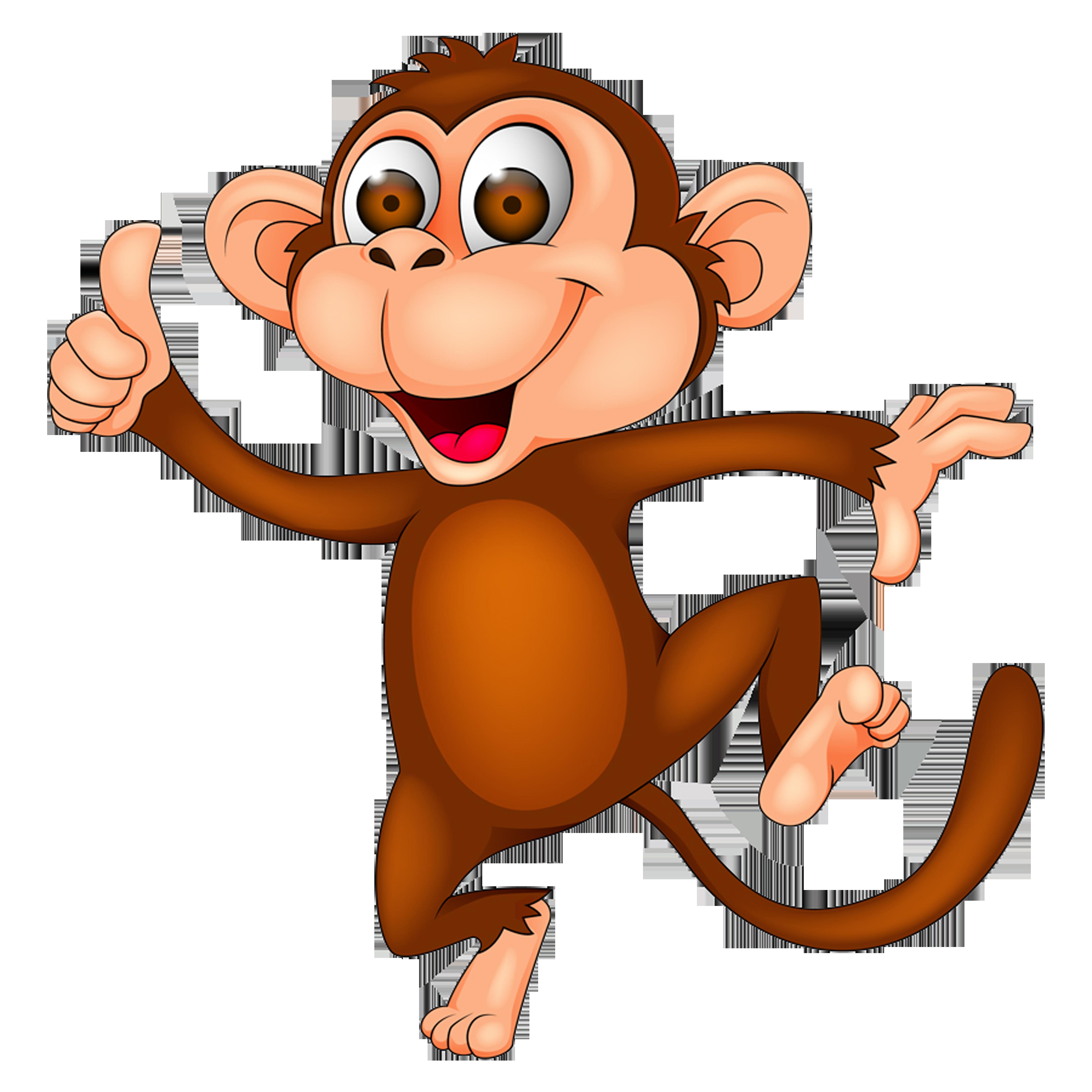 Monkeys clipart transparent background. Monkey cartoon clip art