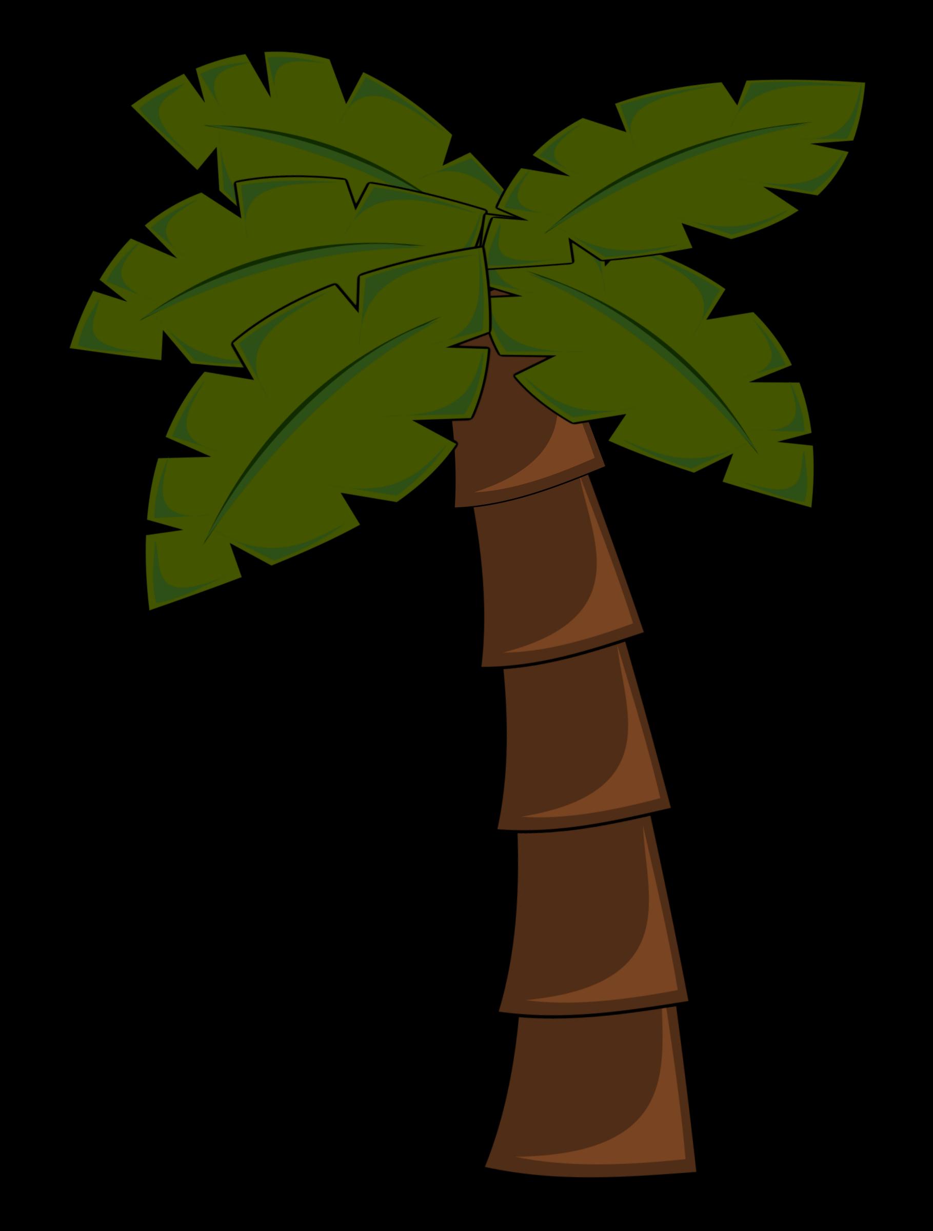 Palm tree big image. Clipart trees monkey