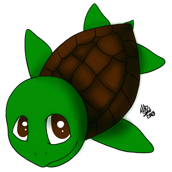 Clipart turtle monkey. Cp sea chibi by