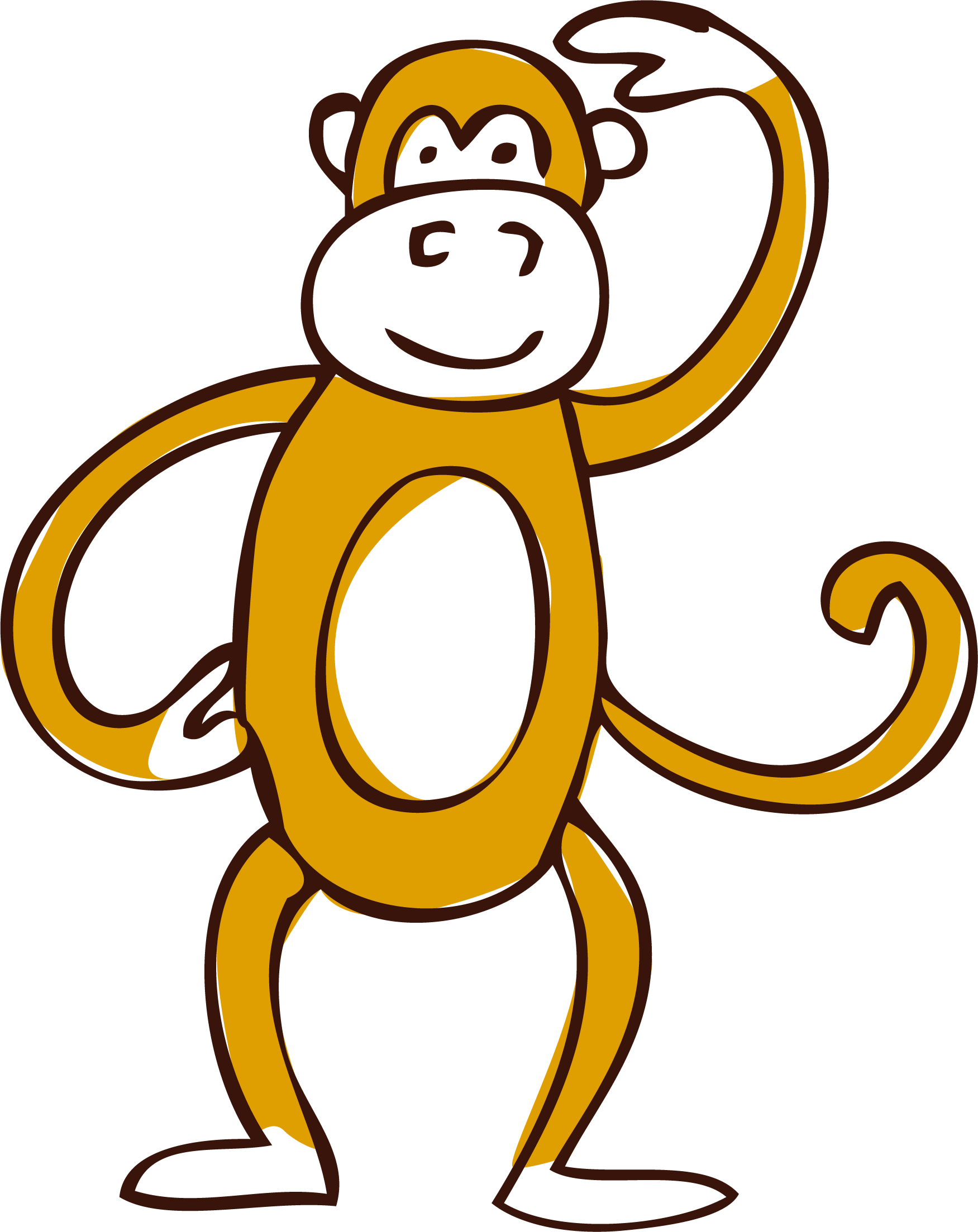 Clip art vector monkey. Monkeys clipart watercolor