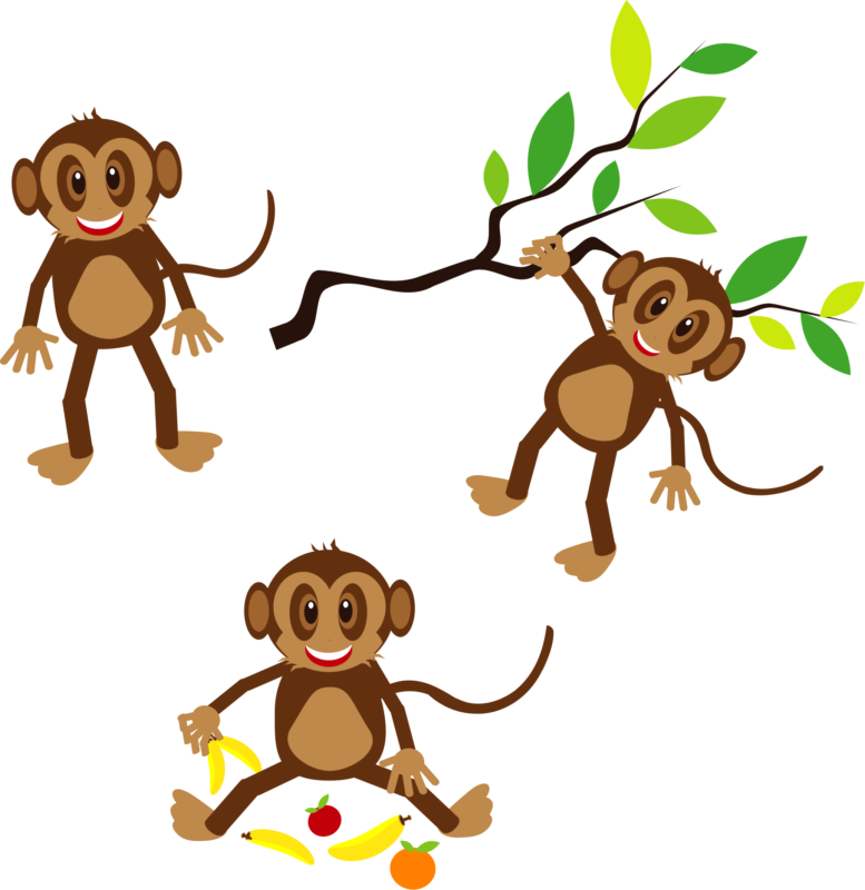 Clipart trees monkey.  free black and