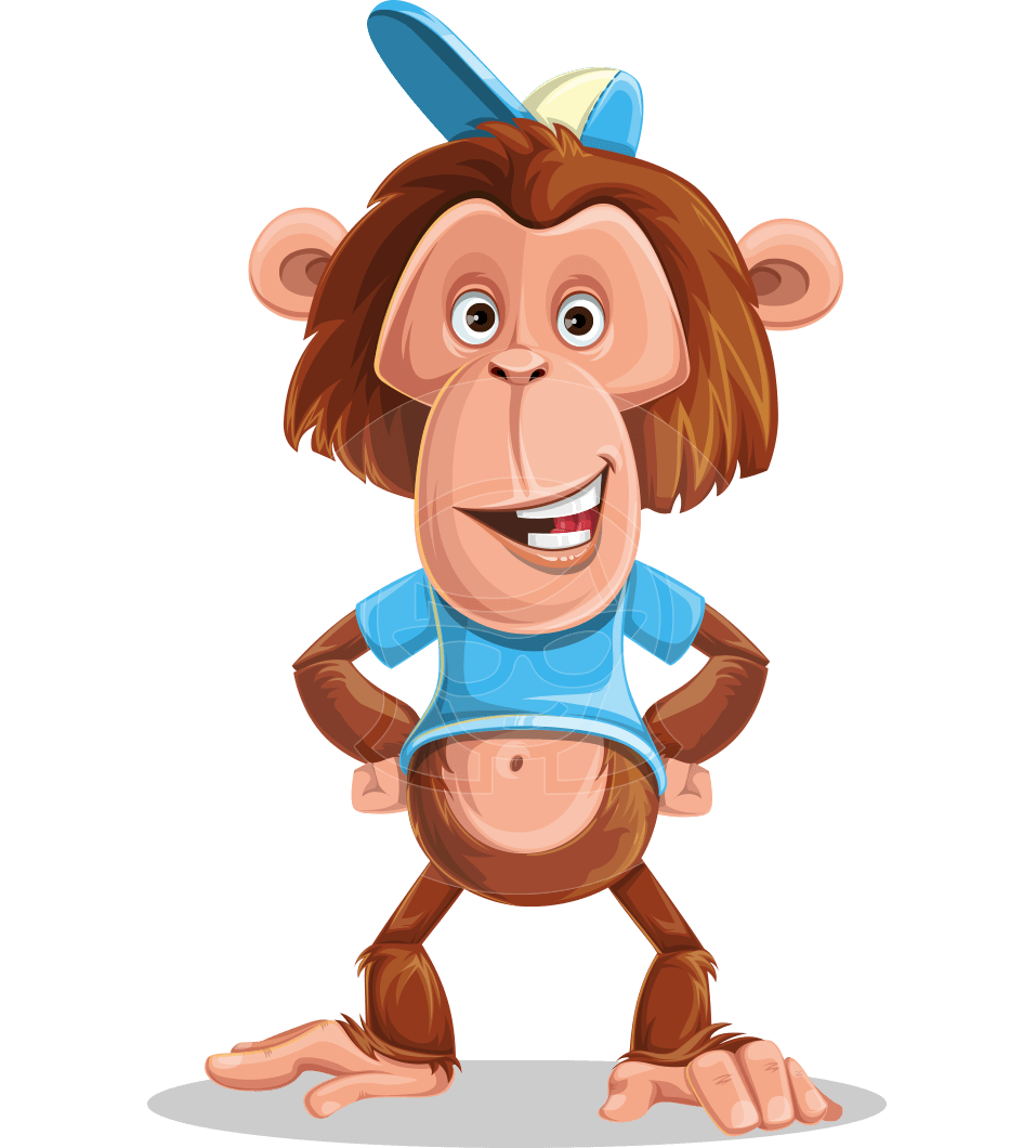 Monkeys clipart toy. Vector monkey cartoon character