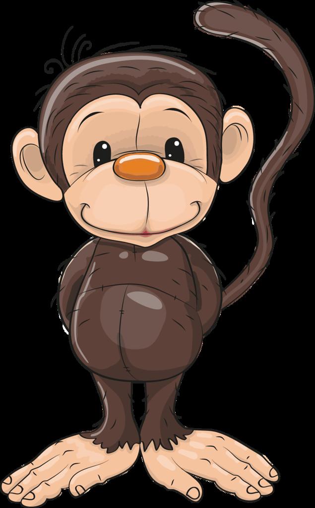 Cartoon clip art transprent. Clipart monkey vervet monkey