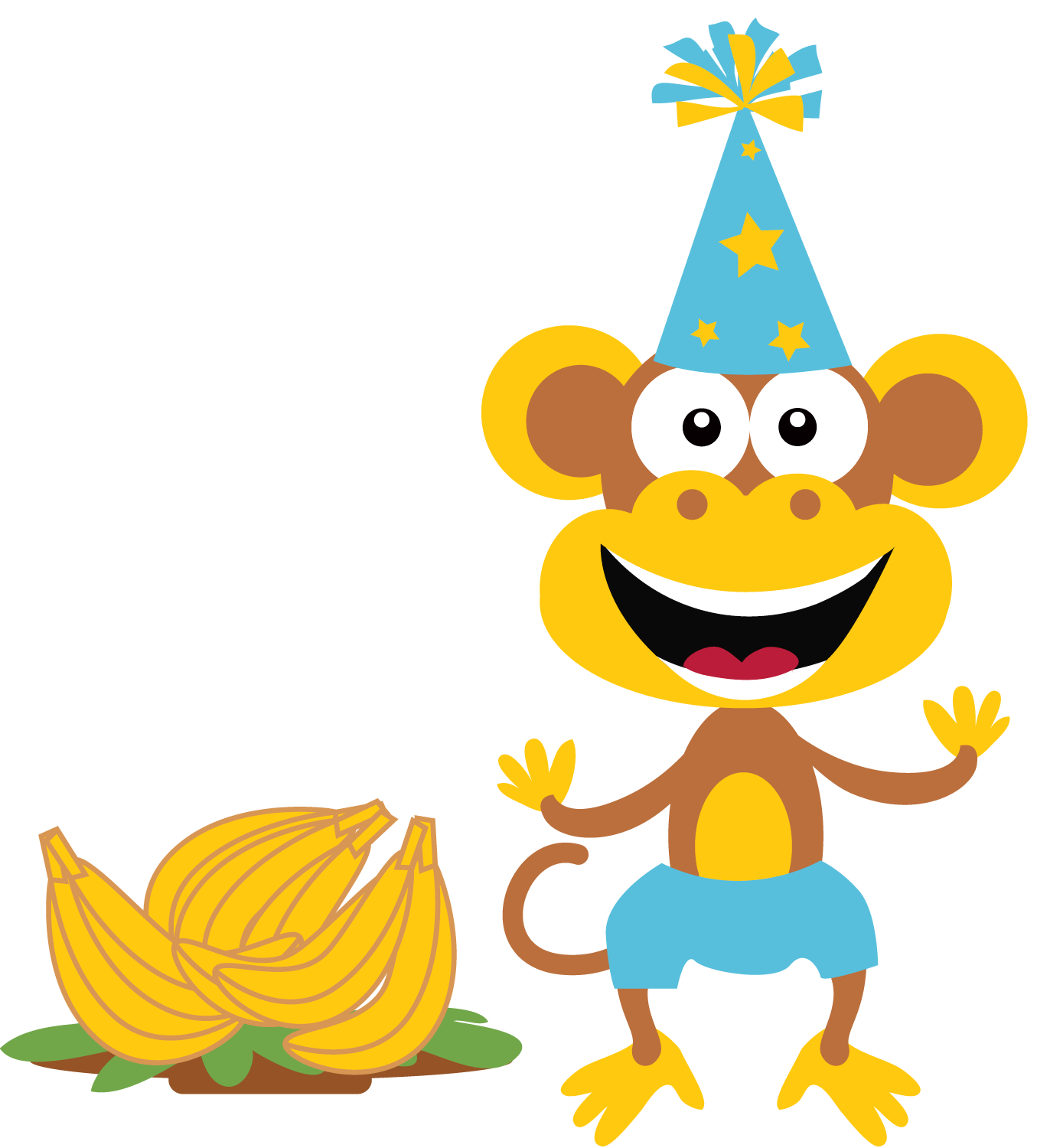 Boy monkey clip art. Handprint clipart little