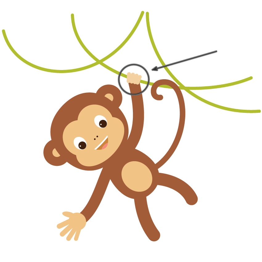 How to create a. Tooth clipart monkey