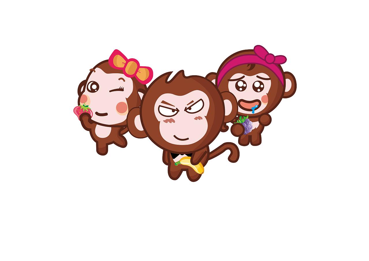 Painting illustration monkey transprent. Monkeys clipart watercolor
