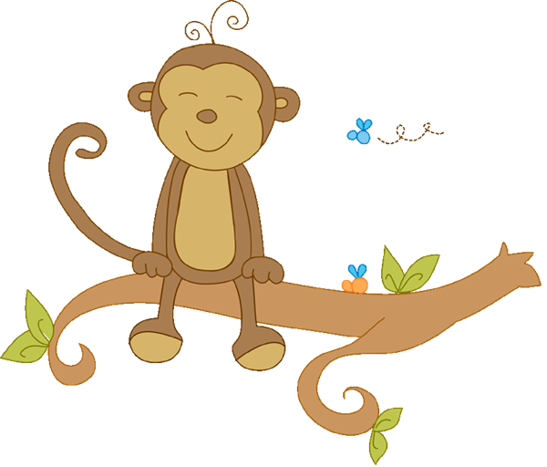 Lion baby shower party. Monkeys clipart watercolor