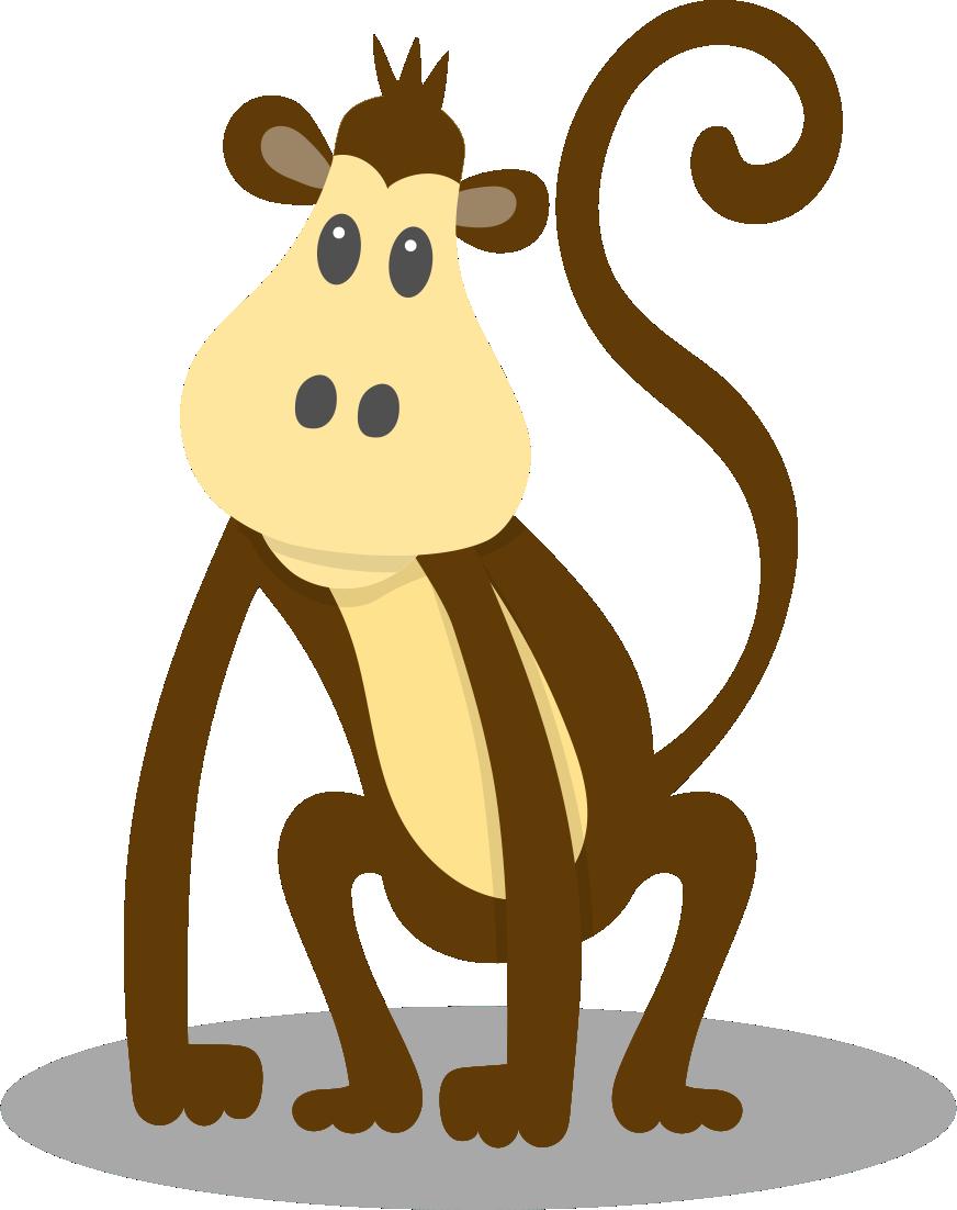 Monkeys clipart watercolor. Monkey animal clip art