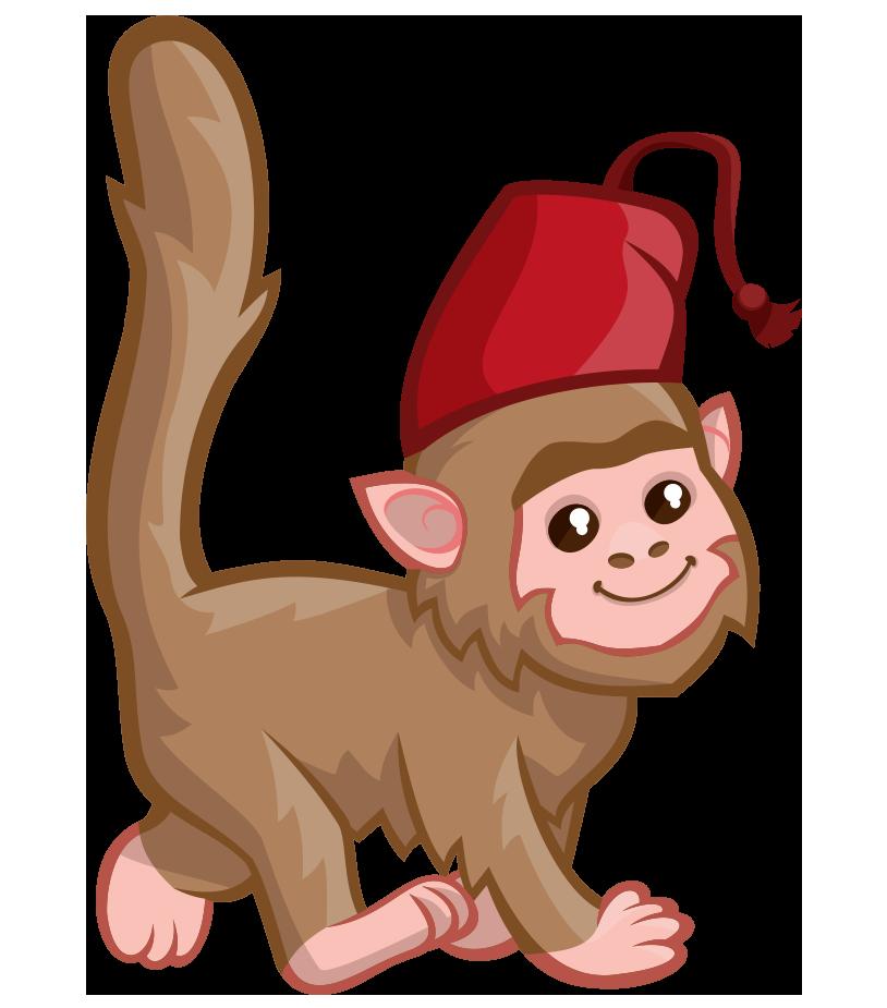 Monkeys clipart watercolor. Monkey drawing hat clip