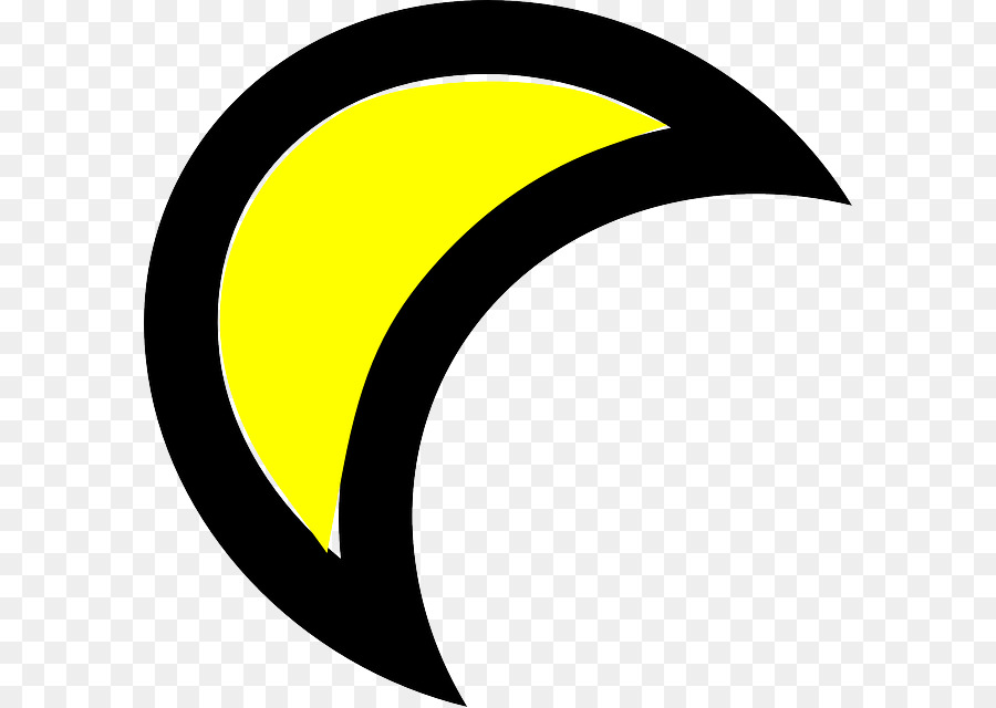 Clipart moon animation. Crescent drawing yellow