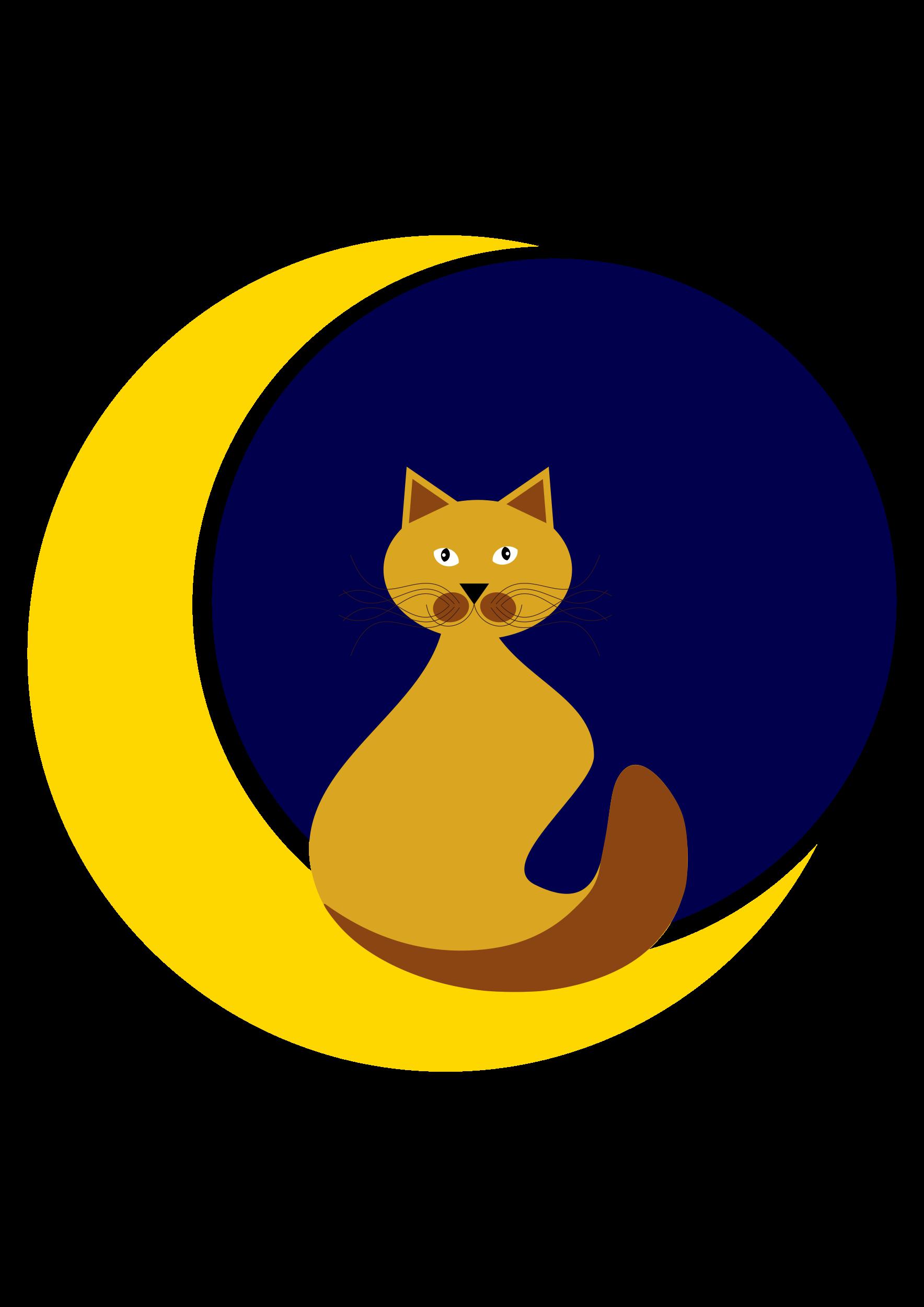 Download coloring cat mask. Clipart moon bitmap