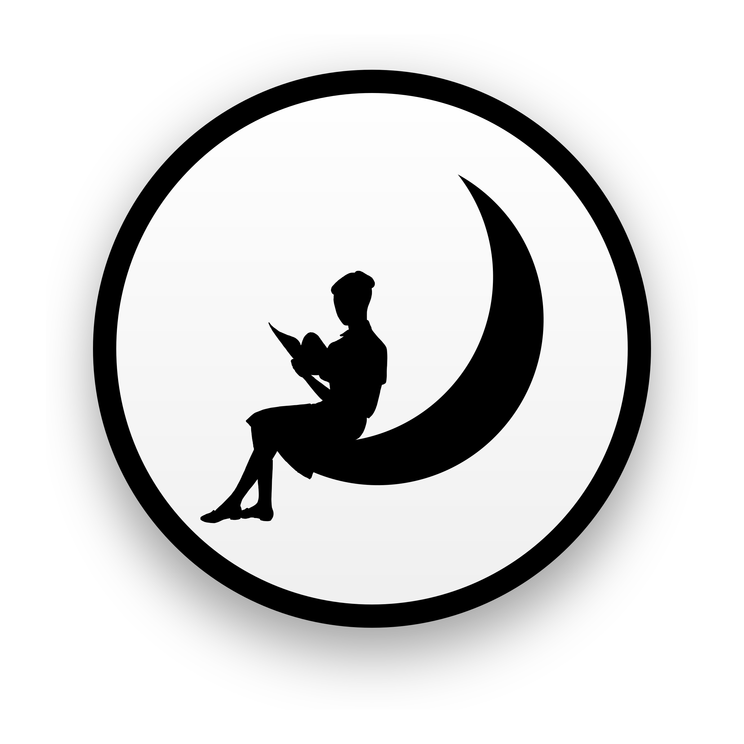 Silhouette at getdrawings com. Clipart moon black and white