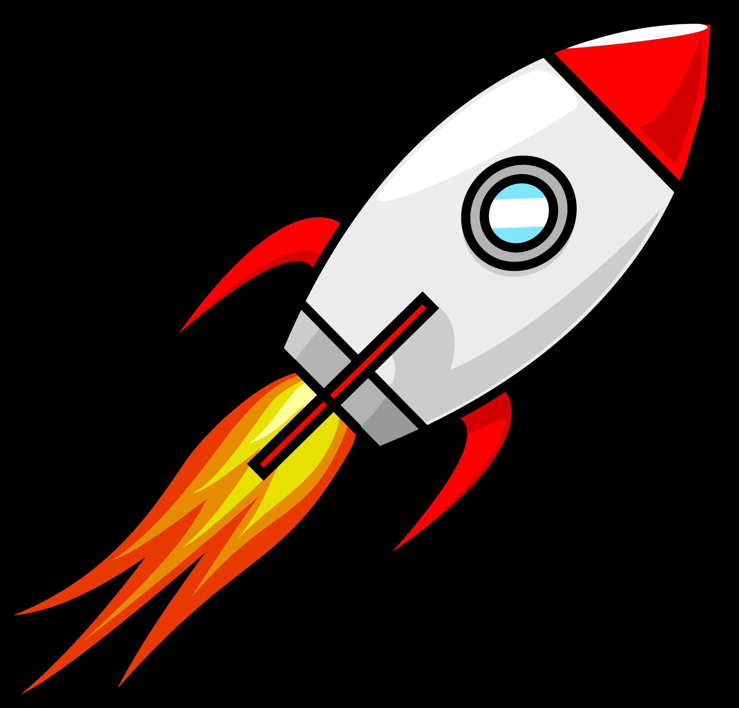 Spaceship clipart simple. Cartoon moon rocket remix