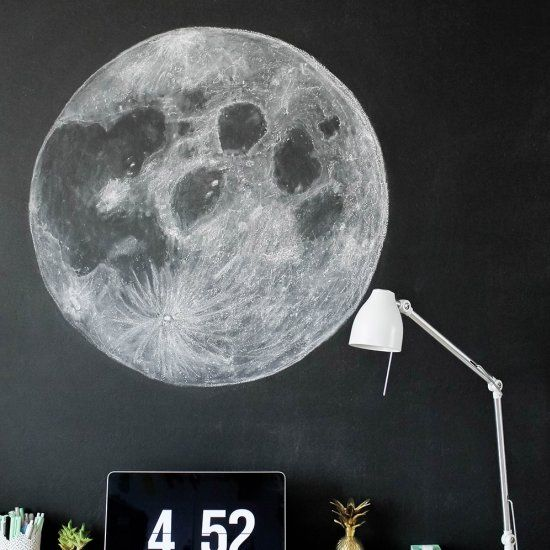 Have a make this. Clipart moon chalkboard
