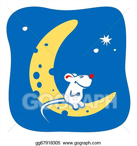 Stock illustration drawing gg. Clipart moon cheese