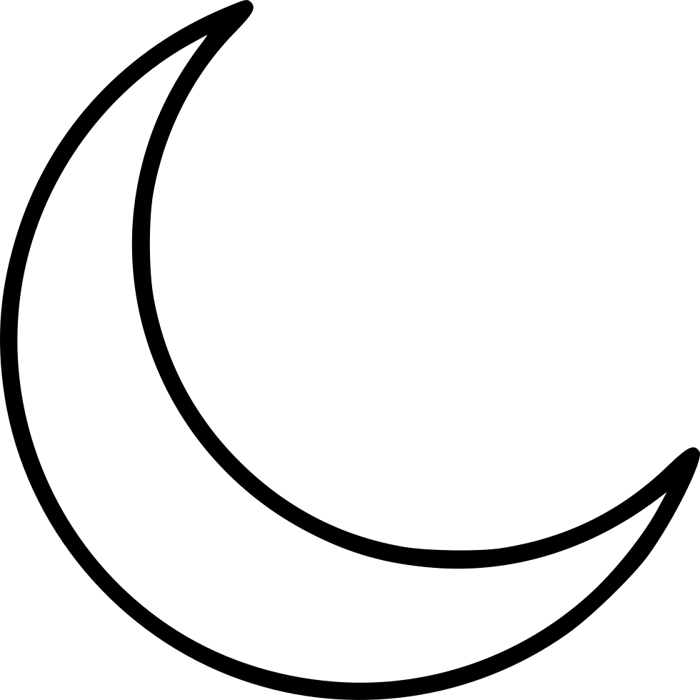 Svg png icon free. Clipart moon crescent