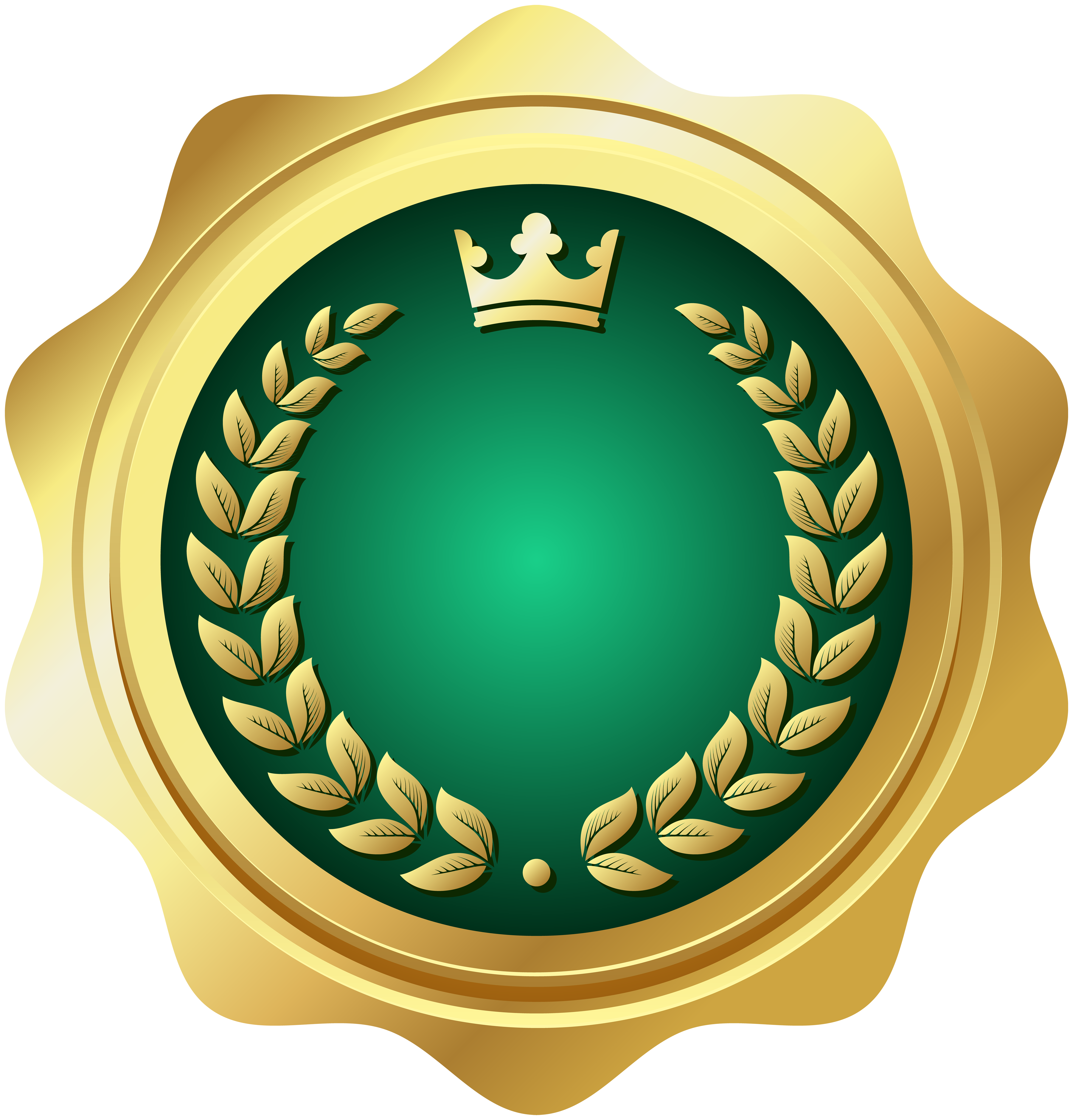 Clipart moon crest. Seal badge green png