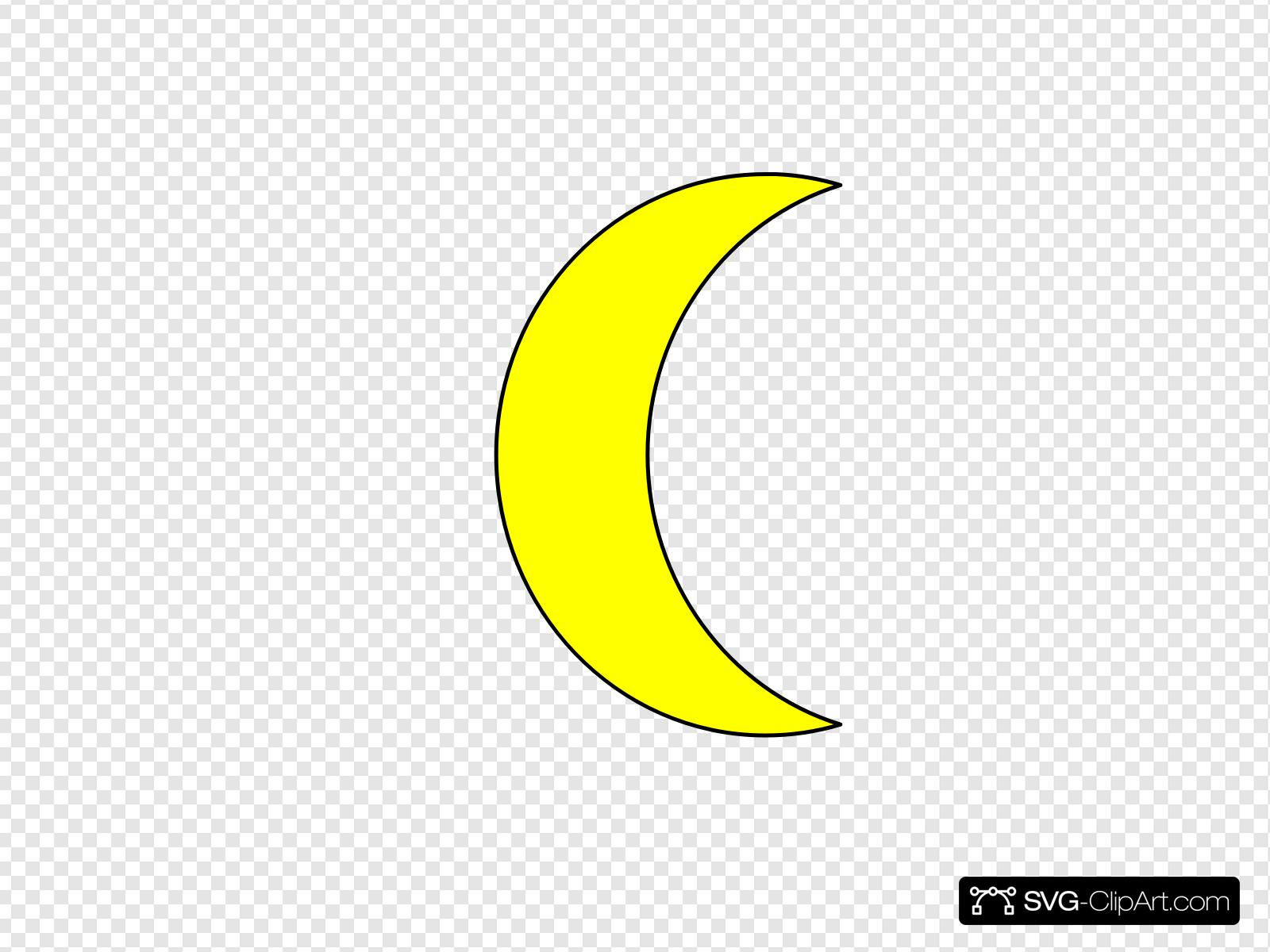 Clip art icon and. Clipart moon crest