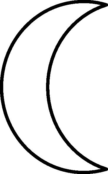 Crescent clip art at. Clipart moon crest