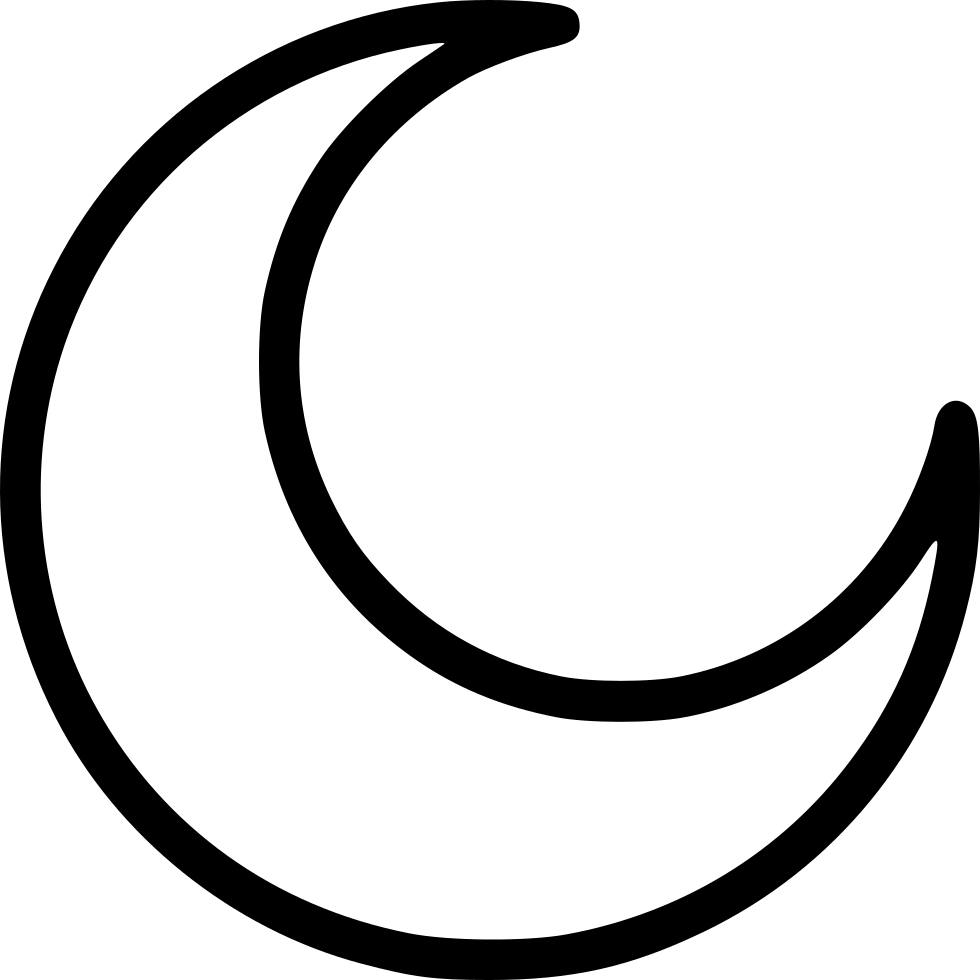 Half svg png icon. Clipart moon curved