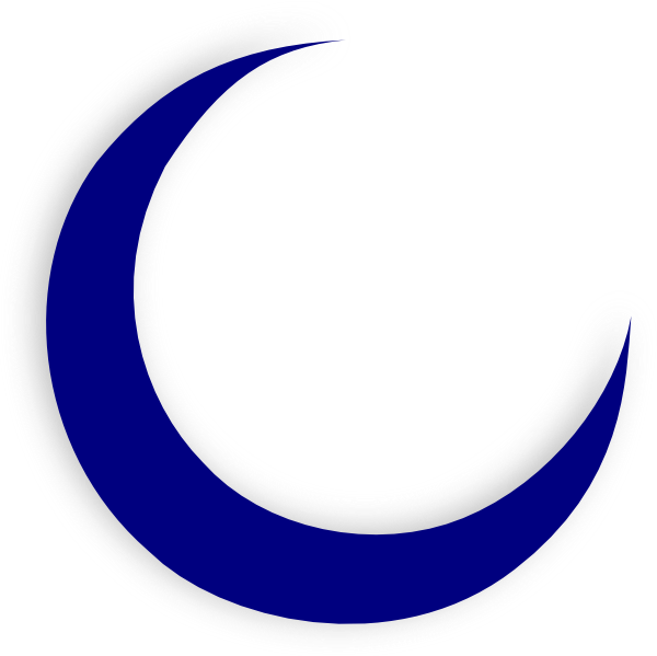 collection of blue. Clipart moon curved