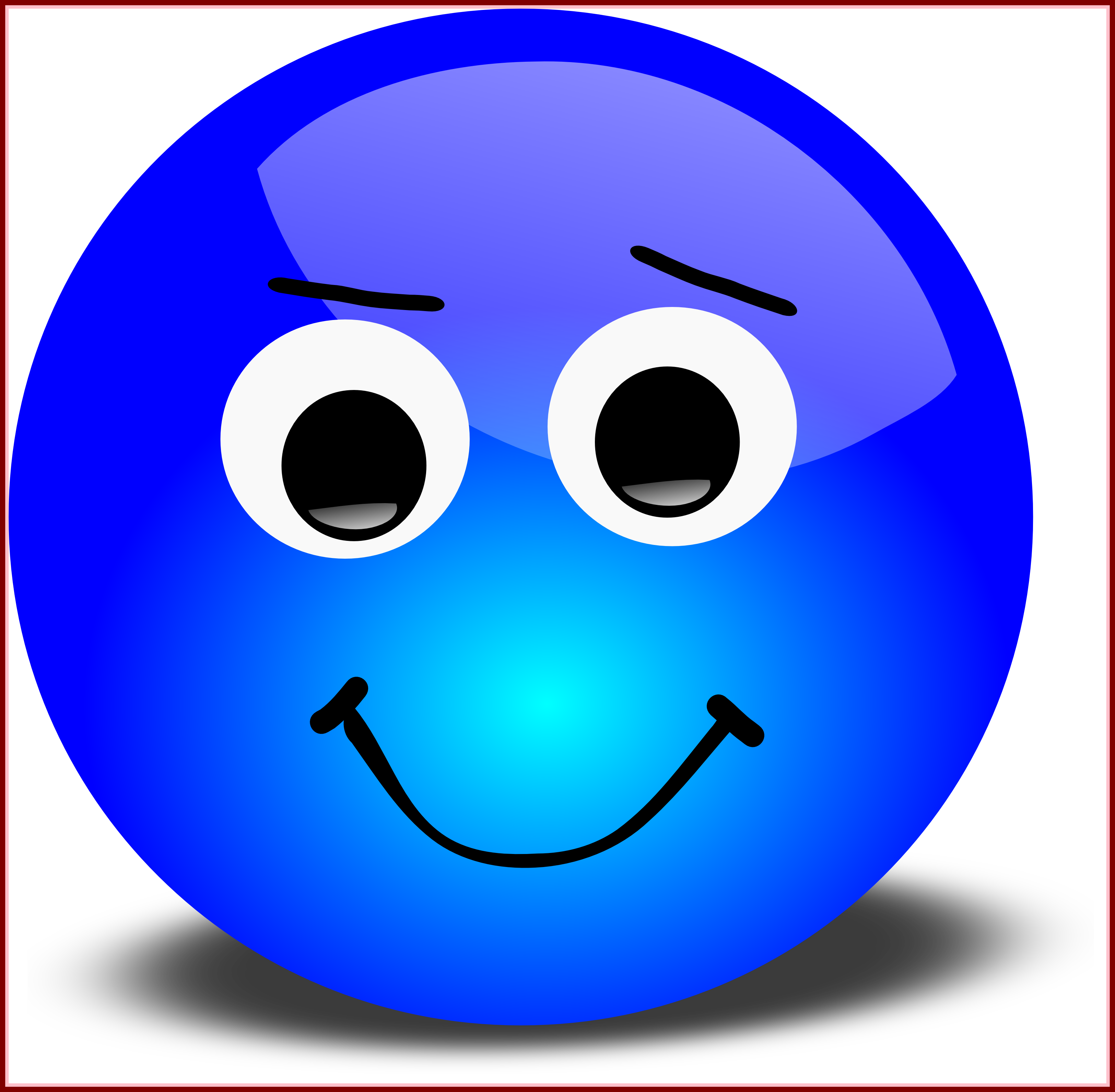 Incredible funny smiley face. Clipart moon emoji