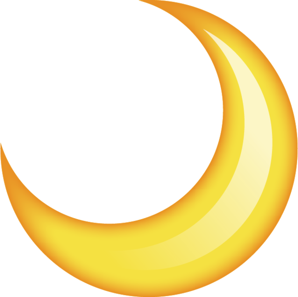 Download image in png. Clipart moon emoji