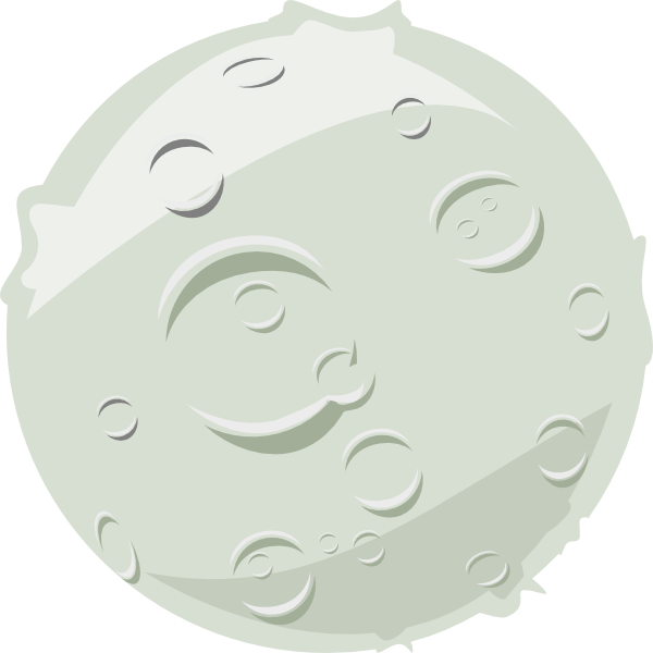 Moon vector png. Full clip art at