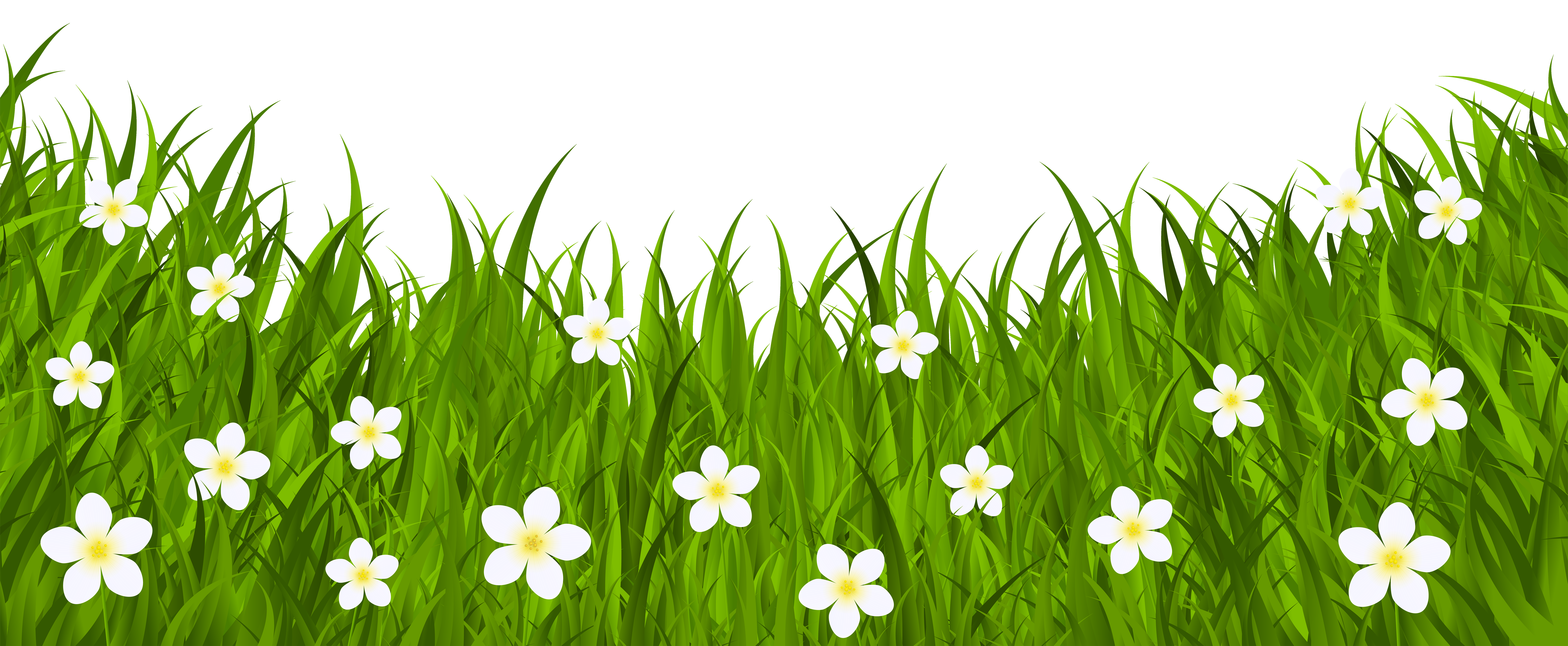 Grass ground with flowers. Dirt clipart plant