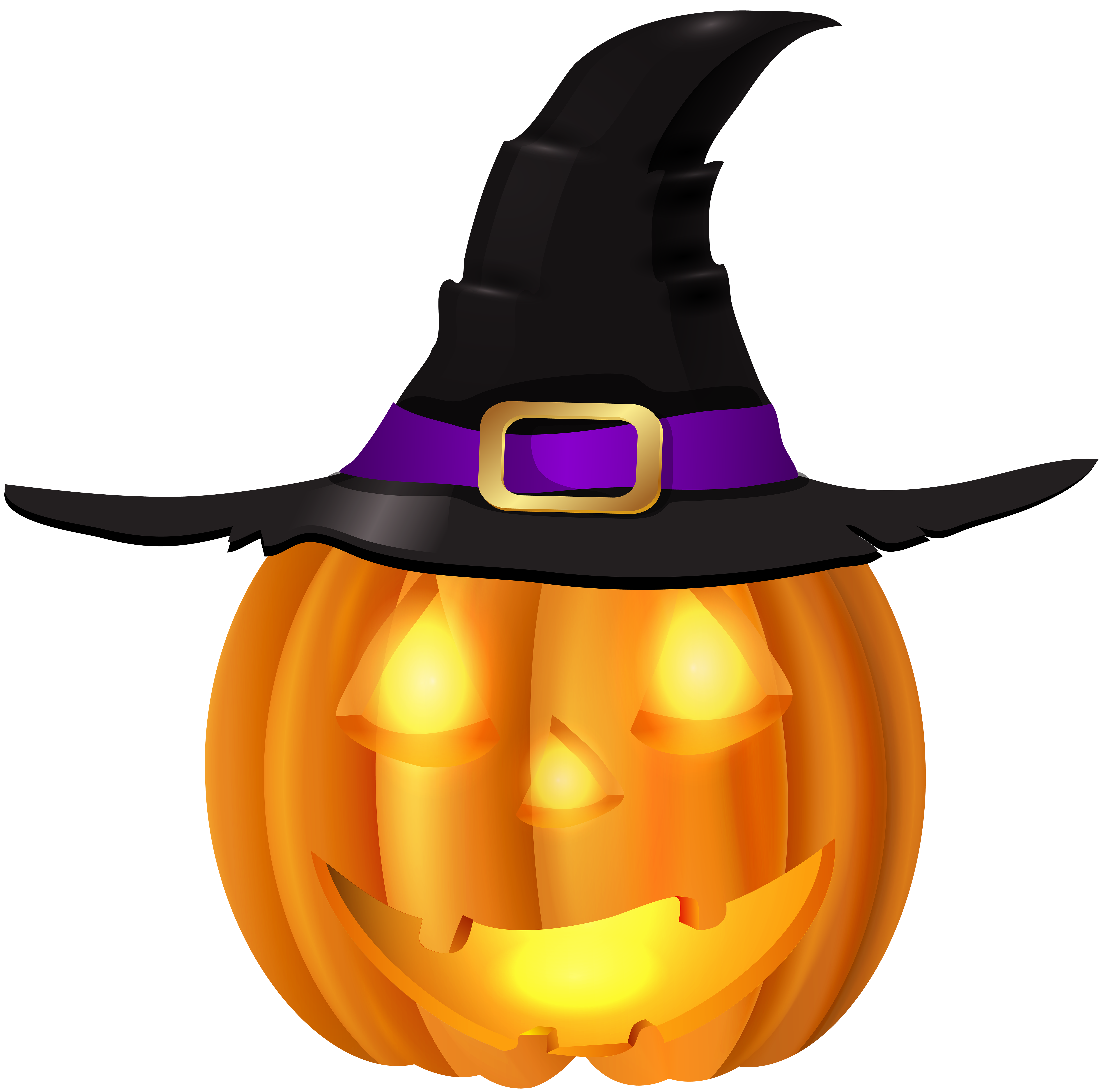 Halloween with hat png. Witch clipart pumpkin