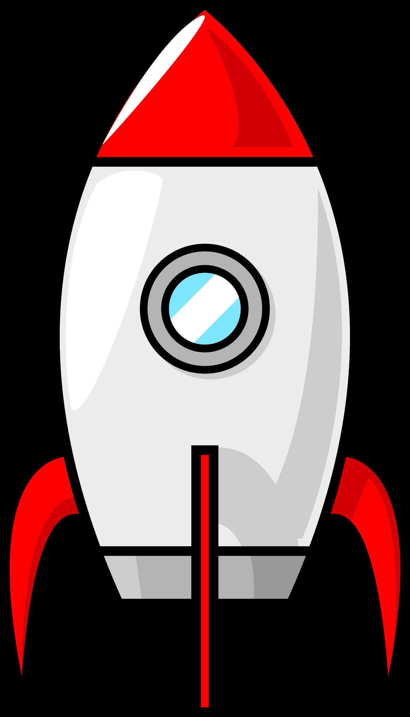 A cartoon moon rocket. Spaceship clipart broken