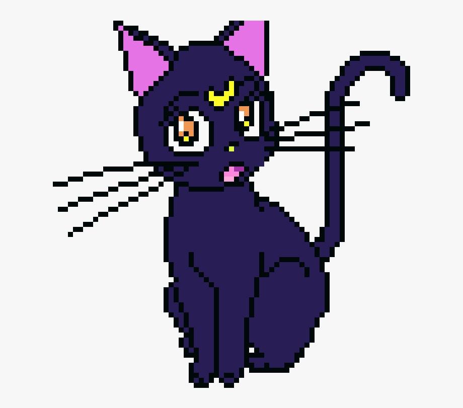Sailor logo cat art. Clipart moon luna