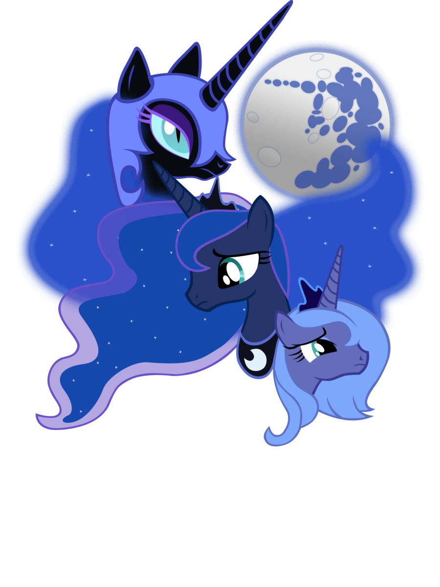 Clipart moon luna. Three by sirhcx on