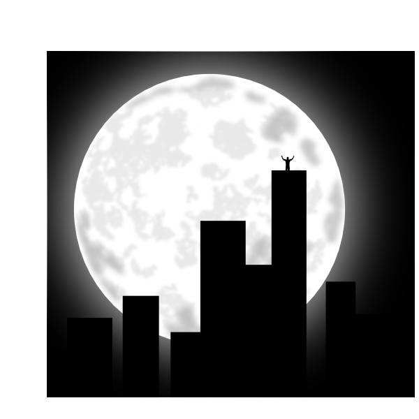 Night clipart city. At clip art clker