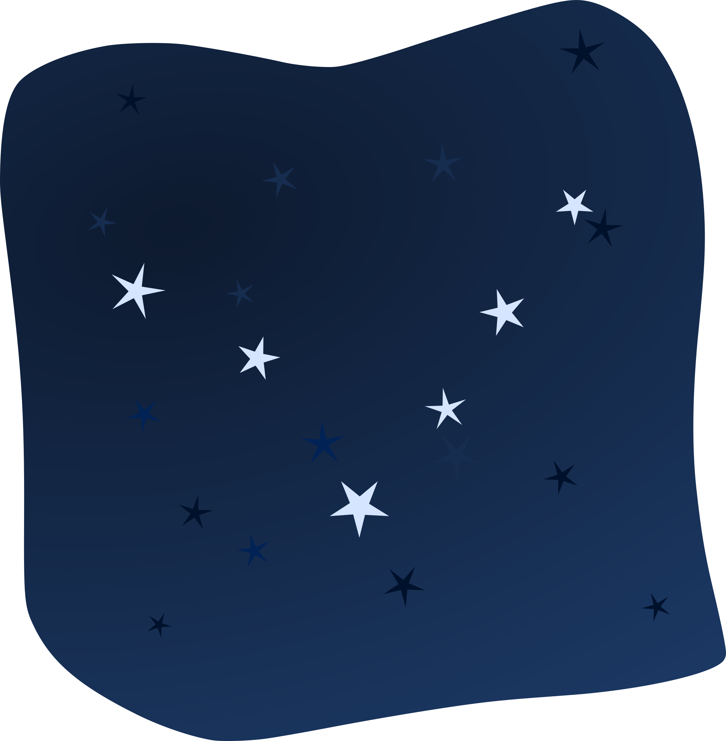 Stars in the icons. Clipart moon night