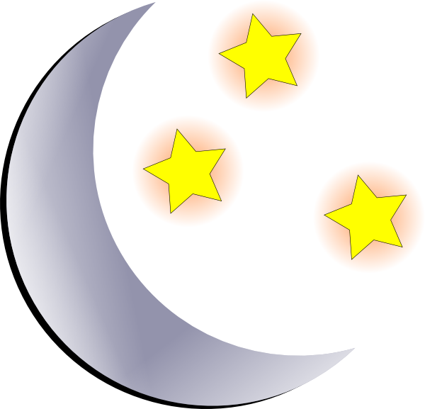 And stars clip art. Clipart moon night