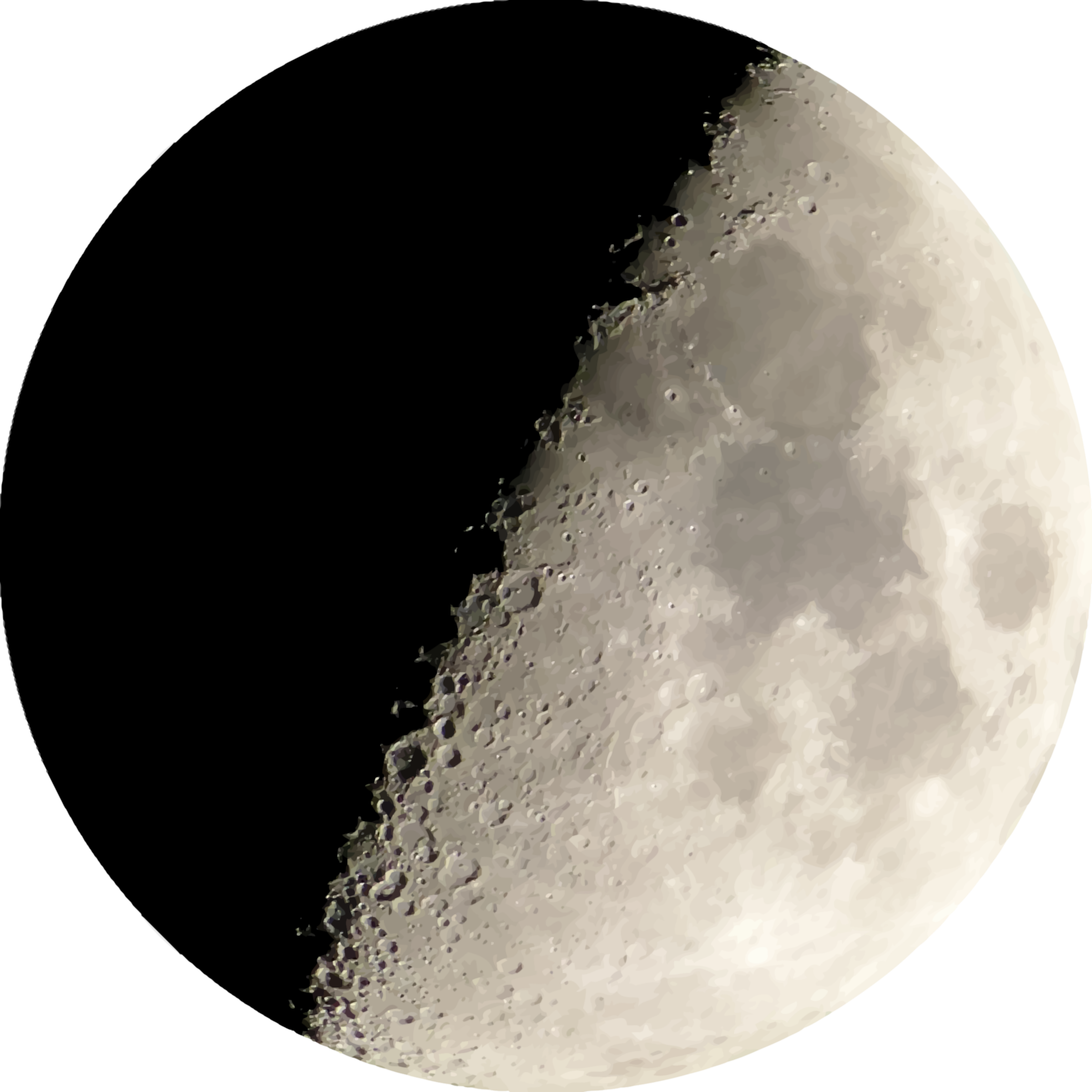 Clipart moon night. Isolated half at big