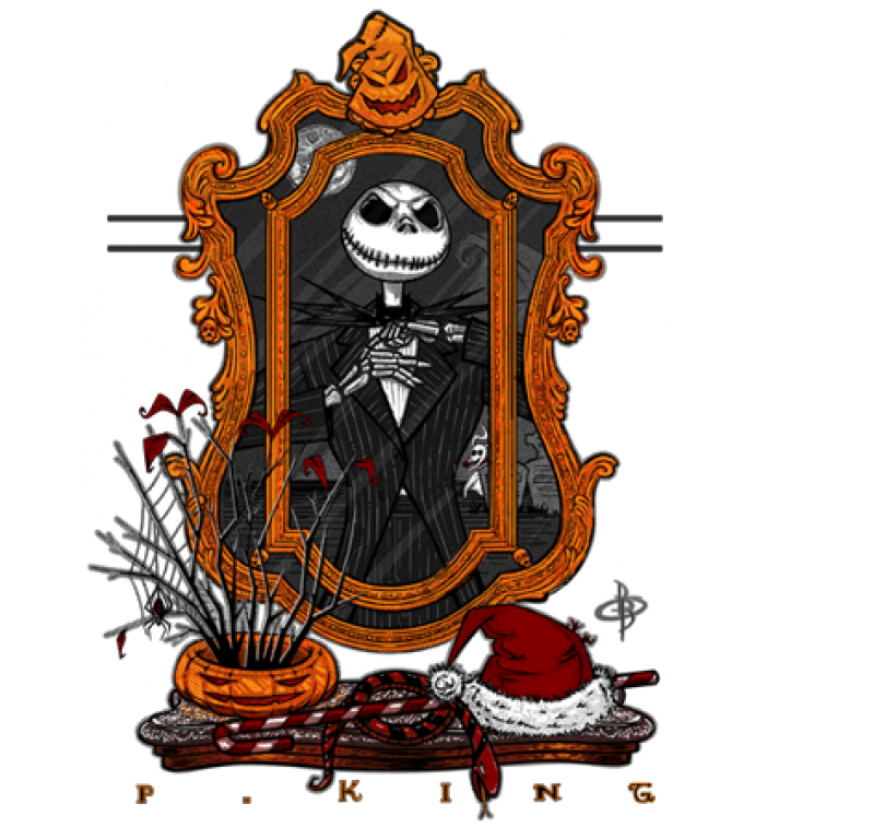 Clipart moon nightmare before christmas. Pumpkin king tshirt selling