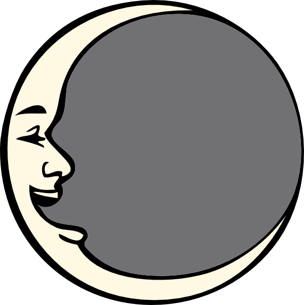 Vintage man in the. Moving clipart moon
