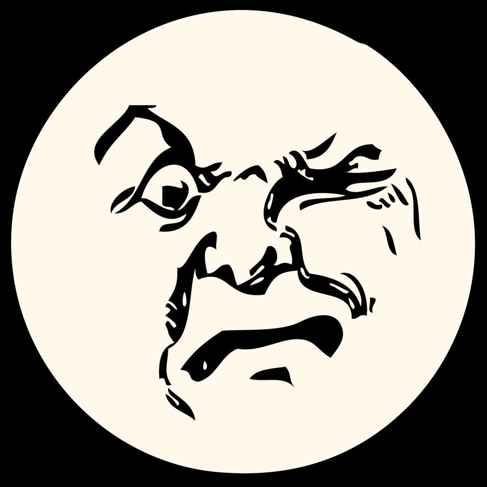 Public domain clip art. Clipart moon person