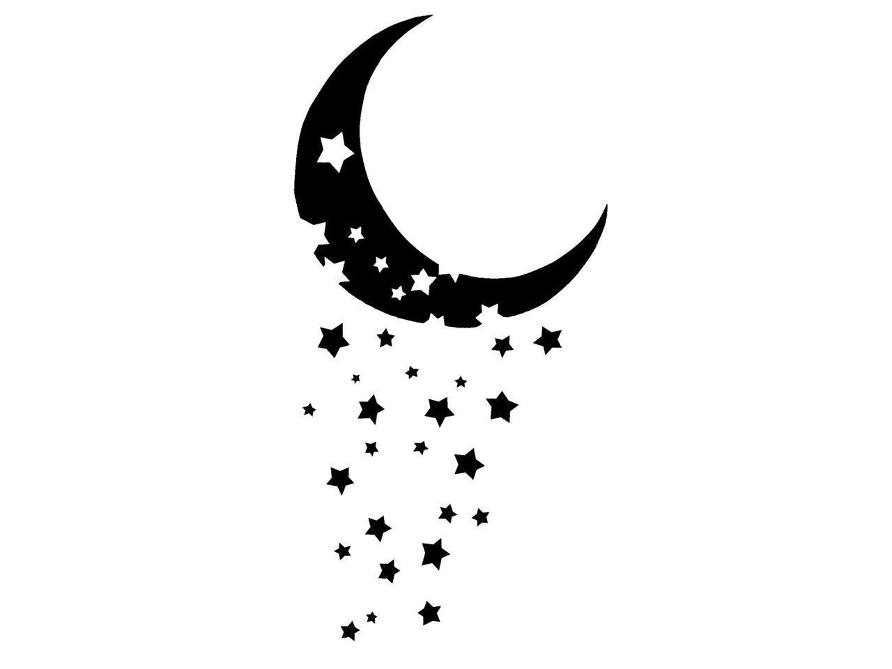 And stars tattoos designs. Clipart moon pretty